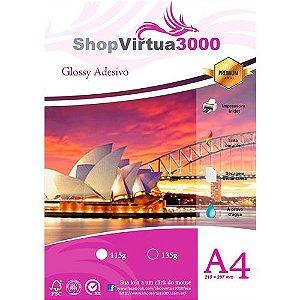 Papel Fotográfico Adesivo Quality (resistente à água apenas p/ tintas corantes) 115g/m² - A4 (P010) - 20 folhas