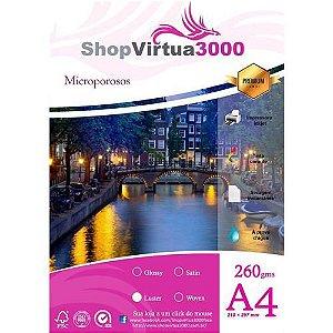 Papel Fotográfico Microporus Luster Fosco (Tinta Pigmentada) 260g/m² - A4 (P025) - 20 Folhas