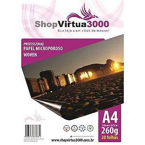 Papel Fotográfico Microporus Woven Fosco (Tinta Pigmentada) 260g/m² - A4 (P027) - 100 Folhas