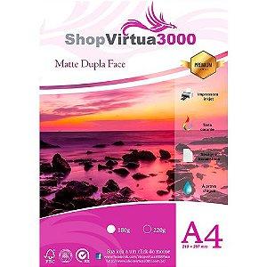 Papel Fotográfico Matte (Fosco) Quality Dupla Face 180g/m² - A4 (P015) - 20 Folhas