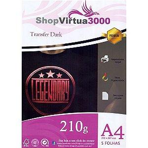 Papel Transfer Inkjet Dark A4 210g - 05 Folhas (Tinta Pigmentada) (P048)