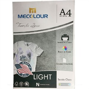Papel Transfer Laser Light 100g Mecolour - A4 (P058) - 10 folhas