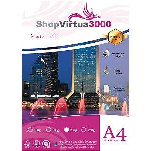 Papel Fotográfico Matte (Fosco) Quality 230g A4 (P014) - 20 Folhas