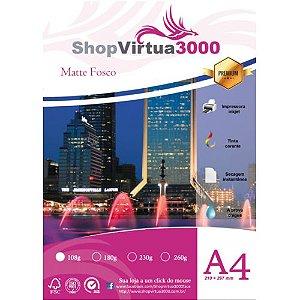 Papel Fotográfico Matte (Fosco) Quality 108g A4 (P038) - 100 Folhas