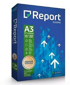 Report Papel Sulfite Premium A3 75g/m2 (500 Folhas) - 01 Unidade