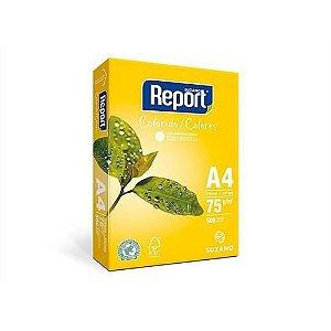 Papel Sulfite Report Colorido Amarelo A4 75g/m2 (500 Folhas) - 01 Unidade