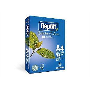 Papel Sulfite Report Colorido Azul A4 75g/m2 (500 Folhas) - 01 Unidade