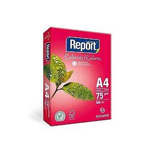 Papel Sulfite Report Colorido Rosa A4 75g/m2 (500 Folhas) - 01 Unidade