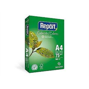 Papel Sulfite Report Colorido Verde A4 75g/m2 (500 Folhas) - 01 Unidade