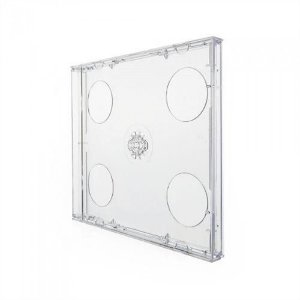Box CD Tradicional Duplo Tray Crystal (Novo Disc) - 150 Unidades
