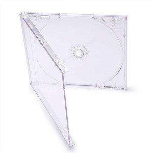 Box CD Tradicional Simples Crystal(Rimo) - 100 Unidade