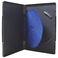 Box DVD Simples Tradicional Luva Feltro Preto - 100 Unidades