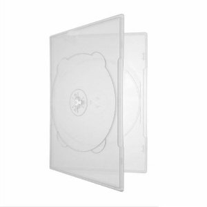 Box DVD Duplo Slim Amaray Crystal (Sony) - 100 Unidades