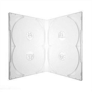 Box DVD Quádruplo Tradicional Scanavo Crystal - 100 Unidades