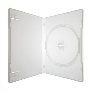 Box DVD Simples Tradicional Amaray Crystal (Sony) - 01 Unidade