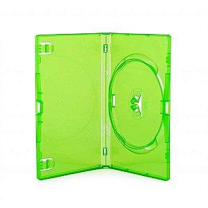 Box DVD Simples Tradicional Amaray Verde - 100 Unidades
