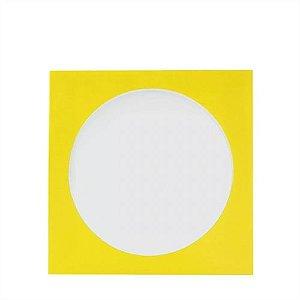 Envelope papel janela Acetato Amarelo - 100 Unidades