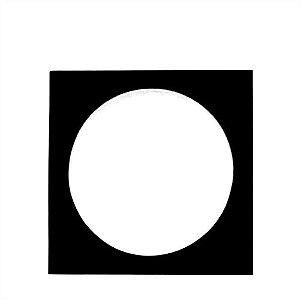 Envelope papel janela Acetato Preto - 100 Unidades
