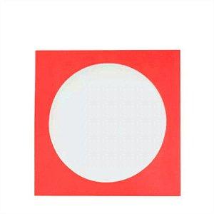 Envelope papel janela Acetato Vermelho - 100 Unidades