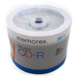 CDR Memorex Music Audio 40X 700MB C/Logo - 50 Unidades (Pino Lacrado)