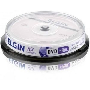 DVD+R Dual Layer Elgin (ID: Umedisc) 8X 8.5GB Dual Layer C/Logo - 10 Unidades (Shrink Lacrado)