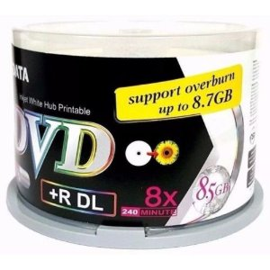 DVD+R Dual Layer Ridata 8X 8.5GB Dual Layer Printable Branco - 50 Unidades (Pino Lacrado)