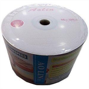 DVD-R Aolin 16X 4.7GB C/Logo - 50 Unidades (Shrink Lacrado)