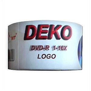 DVD-R Deko 16X 4.7GB C/Logo - 50 Unidades (Shrink Lacrado)