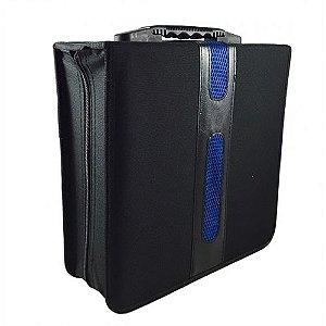 Porta CDs / DVDs com Alça c/ capacidade para 256 discos