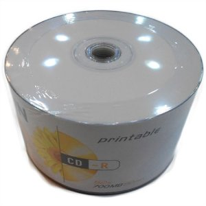 CDR Elgin 52X 700MB Printable Branco - 50 Unidades (Shrink Lacrado)