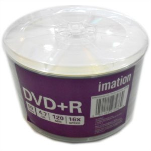 DVD+R Imation 16X 4.7GB C/Logo - 100 Unidades (Shrink Lacrado)