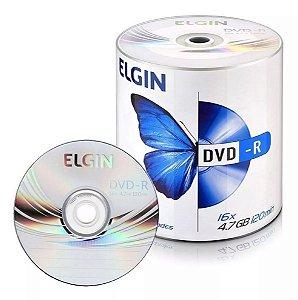 DVD-R Elgin 16X 4.7GB C/Logo - 100 Unidades (Shrink Lacrado)