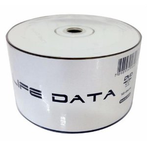DVD-R Life Data 16X 4.7GB C/Logo - 50 Unidades (Shrink Lacrado)