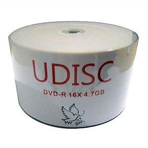 DVD-R Udisc 16X 4.7GB C/Logo - 50 Unidades (Shrink Lacrado)