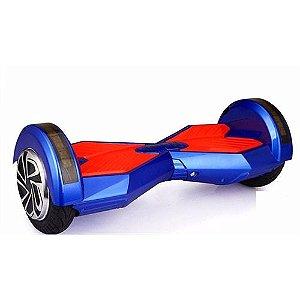 """Skate Elétrico Smart Balance Wheel Azul e Vermelho 8"""" C/Bluetooth Bateria LG"""