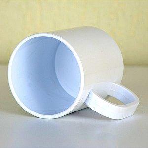Caneca Branca Polímero Robusta 130g Premium Classe AAA 350ml P/sublimação Com Transfer Sublimático, Transfer Laser, Silk Screen e Adesivação - 01 Unidade