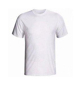 Camiseta/Camisa Tamanho GG Gola Careca Manga Curta Baby Look em Malha 100% poliéster Branca Sublimática - 01 Unidade