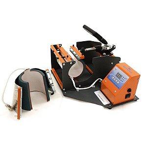 Prensa Térmica 2 em 1 Mecolour Display Digital Para Estampar Caneca Cilíndrica ou Cônica - 110V (A053)