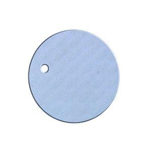 Chaveiro Sublimático de Espuma Branca em Formato Redondo - 10 Unidades