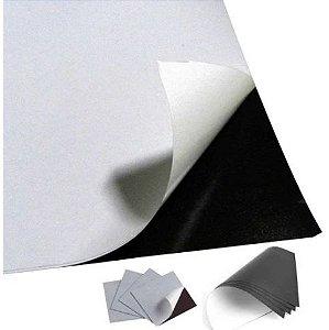 Manta Magnética com Adesivo (Contém Película) 0,3mm A4 - 21cm x 31cm 680g - 10 Folhas