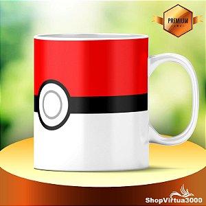 Caneca Cerâmica Classe +AAA Personalizada Pokebola Pokémon - 01 Unidade
