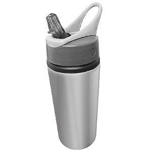 Squeeze Prata 600ml em Alumínio C/bico Retrátil P/Sublimação (B133) - 01 Unidade