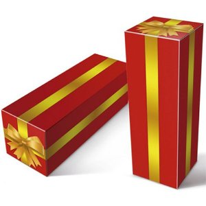 """Caixinha para Squeeze de Material Papelão Resistente Modelo """"laço Dourado''  para Squeeze de 350 Ml (2010) -  01 Unidade"""