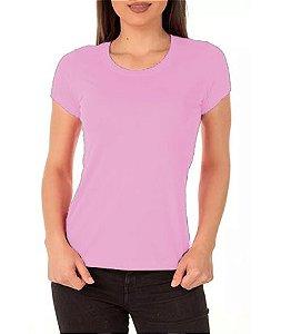 Camisa Modelo Baby Look 100% Poliéster Rosa Claro para Sublimação - 01 Unidade