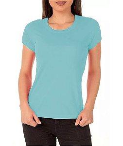 Camisa Modelo Baby Look 100% Poliéster Azul Claro para Sublimação - 01 Unidade