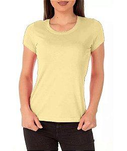 Camisa Modelo Baby Look 100% Poliéster Amarelo para Sublimação - 01 Unidade