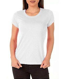 Camisa Modelo Baby Look 100% Poliéster Branca para Sublimação - 01 Unidade