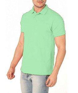 Camisa Tamanho Polo 100% Poliéster Verde Claro para Sublimação - 01 Unidade