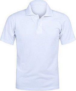 Camisa Modelo Polo 100% Poliéster Branco para Sublimação - 01 Unidade