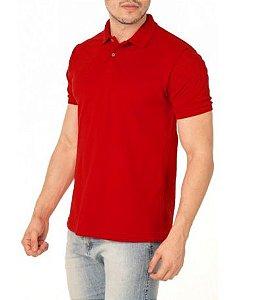 Camisa Modelo Polo 50% Algodão e 50% Poliéster Vermelho para Transfer Silk - 01 Unidade